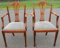 SOLD - Set of Six Yew Dining Chairs in Antique Georgian Style